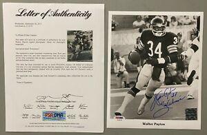 Walter Payton Chicago Bears HOF Signed 8x10 Photo Autographed AUTO PSA/DNA LOA