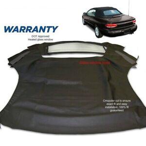 Chrysler Sebring Convertible Soft Top & Heated Glass window 1996-2006 Black SLC
