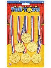 Winner Toy Medals 1st Place Sport Party Prop 6pcs Set Accessory