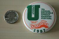 1987 Santa Cruz Beach Boardwalk Brussel Sprout Festival Pinback Button #31658