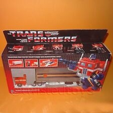 VINTAGE 1984 HASBRO TRANSFORMERS G1 OPTIMUS PRIME TRACTOR TRAILER ROBOT BOXED