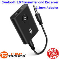 Bluetooth 5.0 Transmitter & Receiver 2 In 1 3.5mm Adapter Low Latency SB17