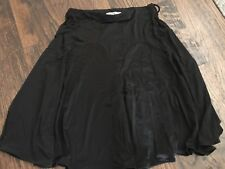 Women's George Black A Line Stretch Knee Length Skirt, Size Small