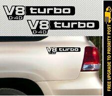 V8 turbo D4D Sticker 4x4 Decal for Toyota Landcruiser 300mm PAIR