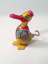 1930'S J. Chein Waddling Duck Tin Litho Wind Up Toy Made in Usa