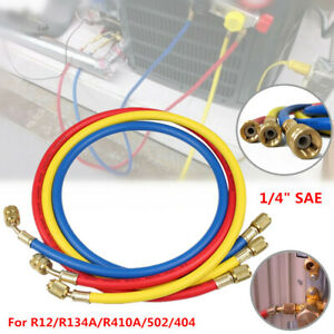 "1/4"" SAE Manifold Gauge HVAC AC Refrigerant Charging Hoses For R12R22/R134AR410A"