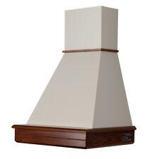 Cappa STOCK 60 rustica legno noce classico cono panna mot. Faber CL60-NCPB52