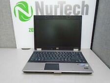 "HP EliteBook 6930p 14"" C2D-P8400 2.26GHz 4GB/250GB Webcam DVDRW Laptop + AC"