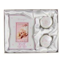 First Tooth & Curl Keepsake Box & Frame Set CG409 Christening Gift Pink Girl NEW