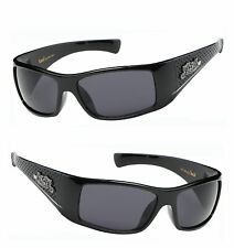 Locs Authentic Men Cholo Motorcycle Biker Shade Sunglasses - Shiny Black LC67
