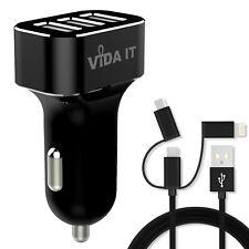 Super Fast Multi 3-Port USB Car Charger 12V-24V Power Adapter For Mobile Phone