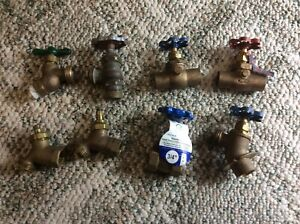 Brass Valves Lot of 8 New And used