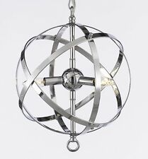 FOUCAULT ORB CHANDELIER CHANDELIERS LIGHTING CHROME FINISH
