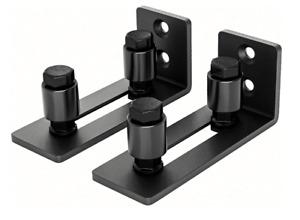 EaseLife Sliding Barn Door Bottom Floor Guide Adjustable Roller Wall Mount Syste
