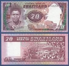 Suazilandia/Swaziland 20 emalangeni (1986) UNC p.12