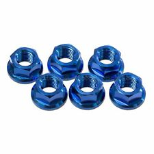 6x Yamaha FZS600 Fazer 1998-2004 Blue M10x 1.25 Titanium Rear Sprocket Nuts