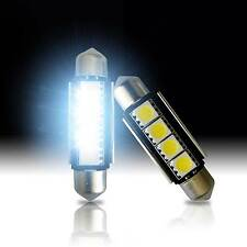 2 x LED White 4SMD Error Free Map/Dome Interior Lights Bulbs 42mm Festoon