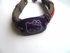 Hello Kitty Purple  Leather Surfer Bracelet
