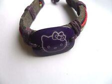 Hello Kitty Purple  Leather Surfer Bracelet