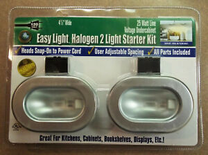 Good Earth Lighting Silver Halogen 2-Light Kit G9602-SS-I - New and Sealed!