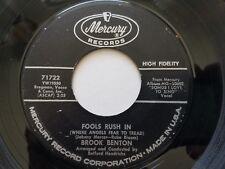 "BROOK BENTON - Fools Rush In / Someday You'll Want 1960 MERCURY 7"" Pop"