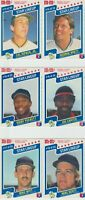 1987 M&M'S BASEBALL CARD SET IN PERFORATED 2 PANELS  NM