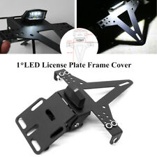 Motorcycle Fender License Plate Holder Bracket Frame Eliminator w/LED Taillight