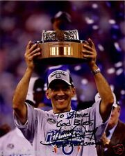 TONY DUNGY Hand Signed 8 x 10 Color Photo. Signed to Steve. Authentic