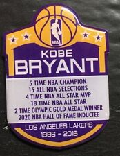 KOBE BRYANT NBA PIN HIGHLIGHTS / HALL OF FAME LOS ANGELES LAKERS COMMEMORATIVE