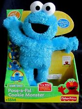 NEW! Fisher Price Sesame Street 2007 Pose-A-Pal Cookie Monster Original Box Inc