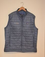 Patagonia BLUE Nano Puff Puffer Vest Embroidered Logo Men's size XL