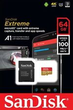 64GB SanDisk Extreme micro SD XC Memory Card U3 V-Class 30 ,4K A1 ,100MB/s (NEW)