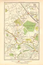 1936 LARGE SCALE LONDON MAP PINNER, HARROW GARDEN VILLAGE, HATCH END,