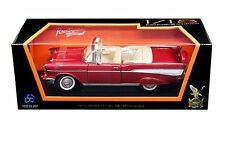 ROAD SIGNATURE 1:18 1957 CHEVROLET BEL AIR CONVERTIBLE Diecast Car 92108RD Red
