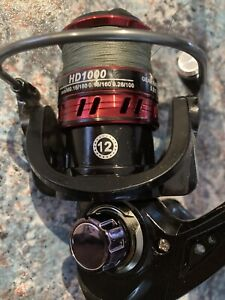 fishing rod and reel combo 2piece carbon fibre rod 1.8mwith 12 bearing reel