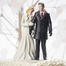 Winter Wonderland Wedding Couple Cake Topper Figurine Reception Gift Romantic