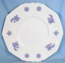 Antique Chelsea Blue Sprig Thistle Luncheon Plate Porcelain Dinnerware Scrolls