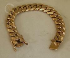 Yellow Gold Cuban Link Bracelets For