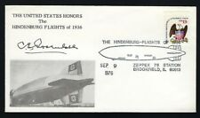 Charles E. Rosendahl signed cover US Navy Vice Admiral Airships