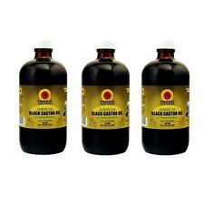 "Tropic Isle Living Jamaican Black Castor Oil 8oz ""Pack of 3"" /w Applicator"