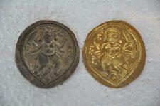 Old Brass Bell Metal Tribal God Engraved Jewellery Pendant Dye , Rich Patina