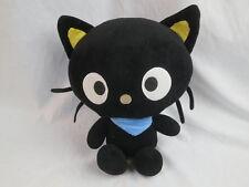 2011 SANRIO FIESTA BLACK HELLO KITTY CHOCOCAT BLUE SCARF PLUSH STUFFED TOY