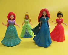 Polly Pocket Magic Clip Princess Doll Ariel Snow White Sleeping Beauty Merida