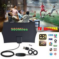 Digital TV Antenna Indoor 960 Miles HDTV Aerial Amplified 4K HD DVB-T Freeview