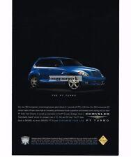 2003 Chrysler PT CRUISER Turbo Blue 4-door Vtg Print Ad