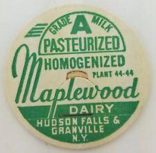 VINTAGE MILK BOTTLE CAP MAPLEWOOD DAIRY HUDSON FALLS, NY. A2-144.  Z