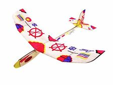 2PC Lanyu Hand Launch Balsa Wood Glider Plane DIY Build&Paint Model Kit, US 8021