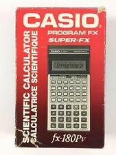 Calculatrice Casio FX-180PV / Vintage Program Super FX Calculator