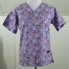 Melrose Size S Angels From Heaven SS Scrub Top W&W Lavender Womens Small EUC