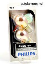 Philips PY21W Argento Visione SilverVision Indicatore 2pcs 12496SVB2 BAU15s TOP